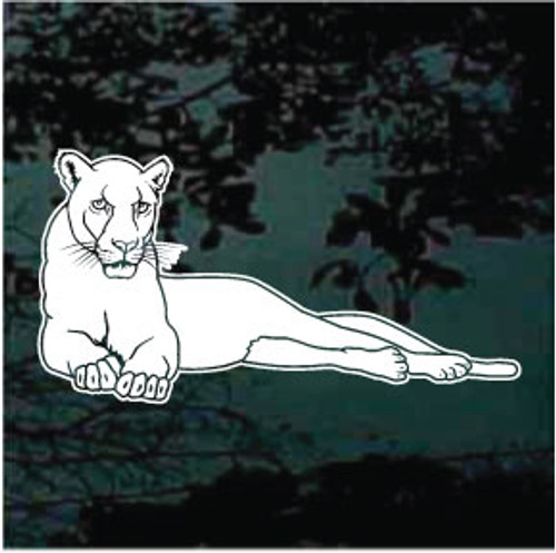 Stylish Panthers Mascot Window Decals