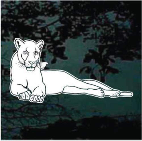 Stylish Panthers Mascot Window Decals