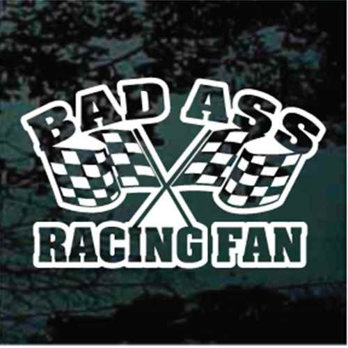 Bad Ass Racing Fan Window Decals