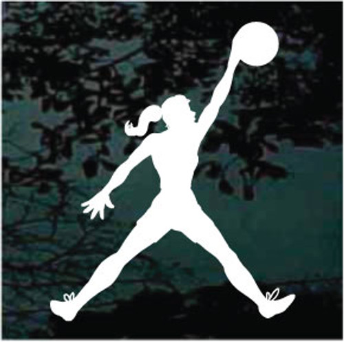 Girl Basketball Player Decals