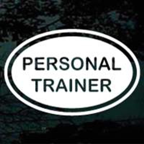 Personal Trainer Oval Decals