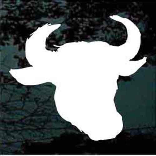 Solid Bull Head Window Decals