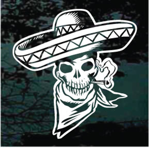 Mexican Skull Decal