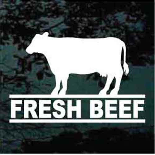 Fresh Beef Cow Silhouette Window Decals