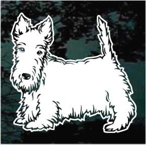 Awesome Scottish Terrier Window Decal