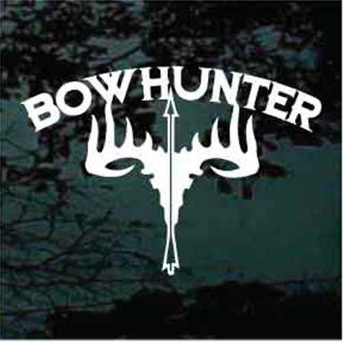 Bowhunting Antlers & Arrow Window Decals