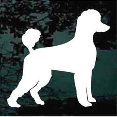 Poodle Silhouette Window Decal