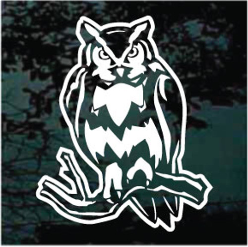 Owl On A Branch Decals