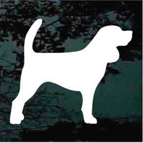 Beagle Standing Silhouette Decal