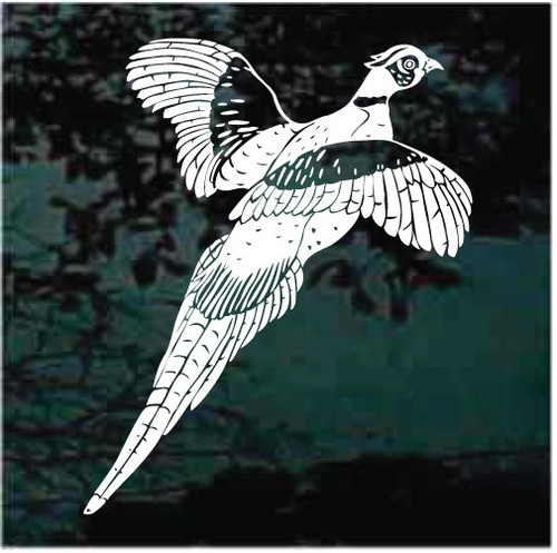 Beautifully Detailed Pheasant Window Decals