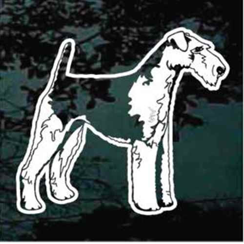 Airedale Terrier Standing Car Window Decal