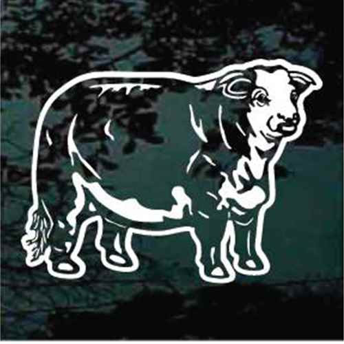 Detailed Hereford Cow Window Decals