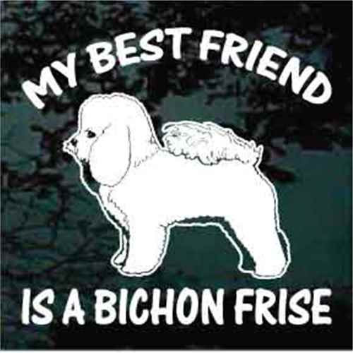 Bichon Frise Best Friend Window Decal