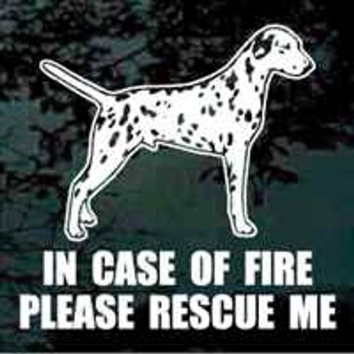 Dalmatian Fire Rescue Window Decal