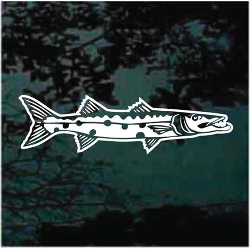 Detailed Barracuda Fish Car Decals