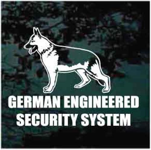 German Engineered Security System Decals