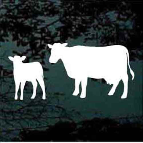 Cow & Calf Silhouette Window Decals