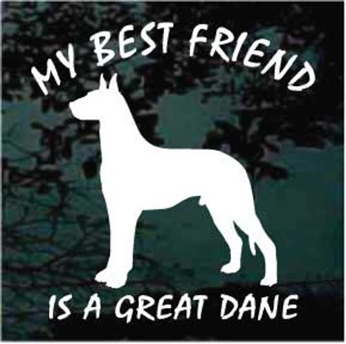 Great Dane 01 Silhouette Best Friend Window Decal