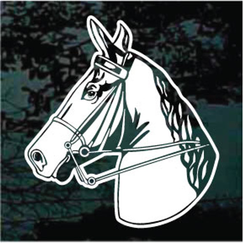 Horse Head In Bridle Decals
