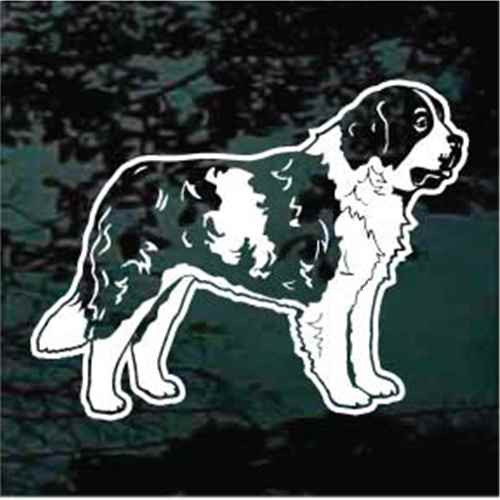 Standing St. Bernard Window Decals