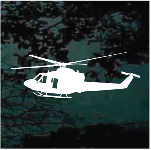 Flying Helicopter Silhouette Decals
