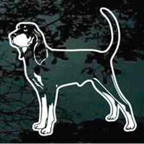 Coonhound Standing Window Decal