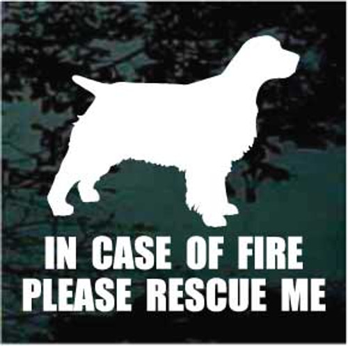 English Springer Spaniel 01 Silhouette Fire Rescue