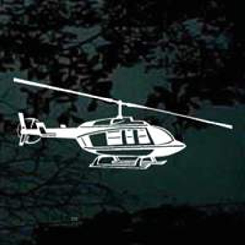 Detailed Helicopter Side View Decals