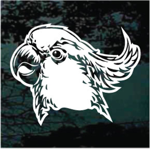 Cockatoo Head Window Decals
