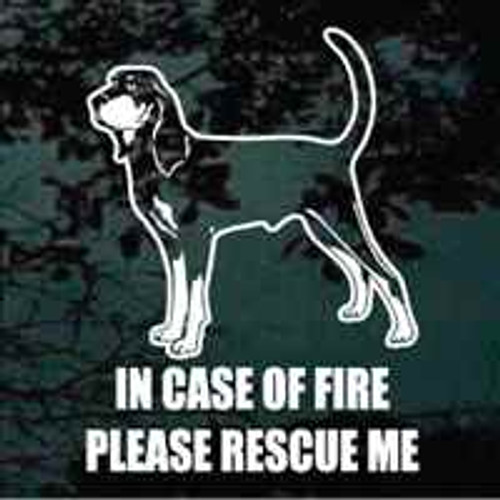 Coonhound Fire Rescue Window Decal