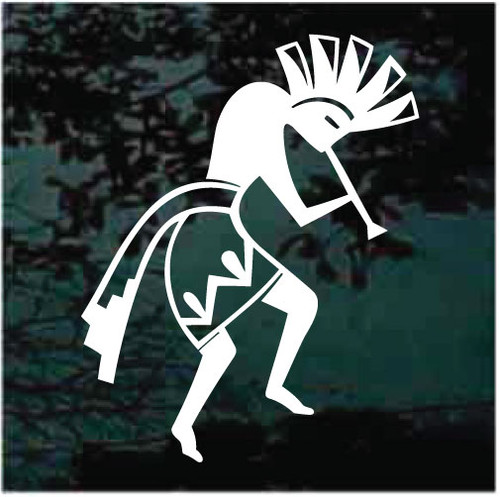 Aztec Kokopelli Playing The Flute Decals