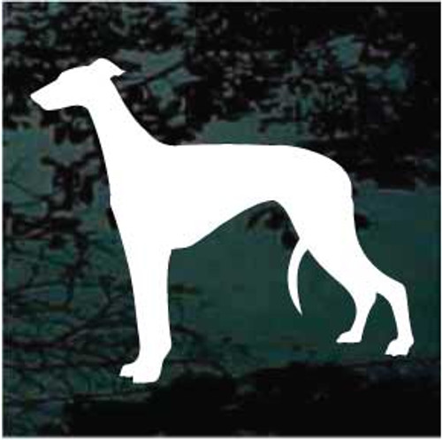 Greyhound 01 Silhouette Window Decal