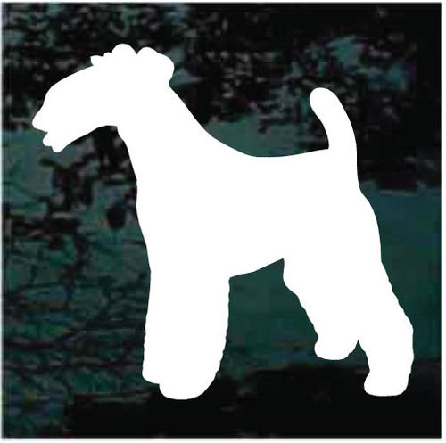 Wirehaired Fox Terrier Silhouette Decals