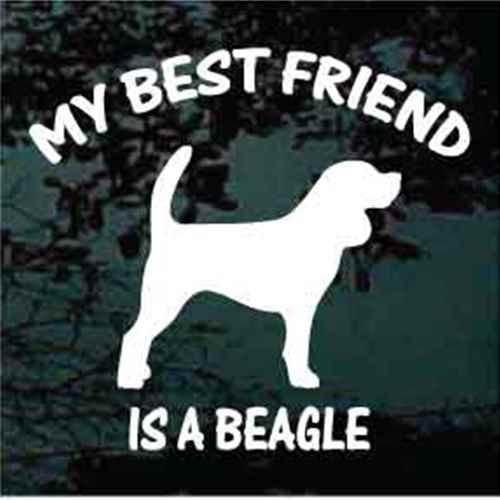 Beagle Silhouette Best Friend Decal