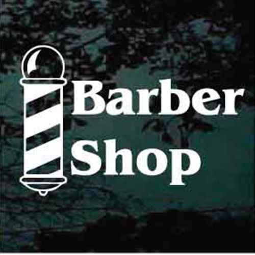 Barber Shop With Barber Pole