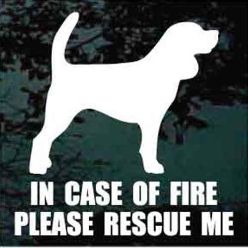 Beagle Solid Standing Fire Rescue Decal