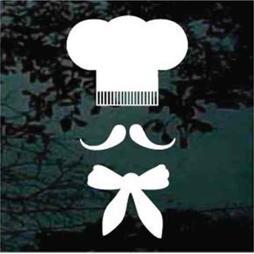 Chef's Hat Baker Symbol Window Decals