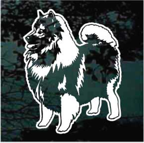 Beautiful Keeshond Decals