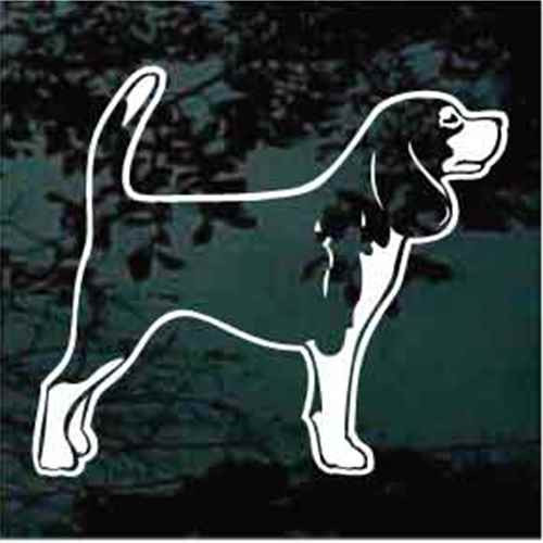 Beagle Standing Decal