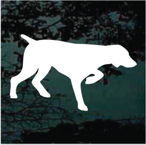 German Shorthaired Pointer Silhouette Window Decal