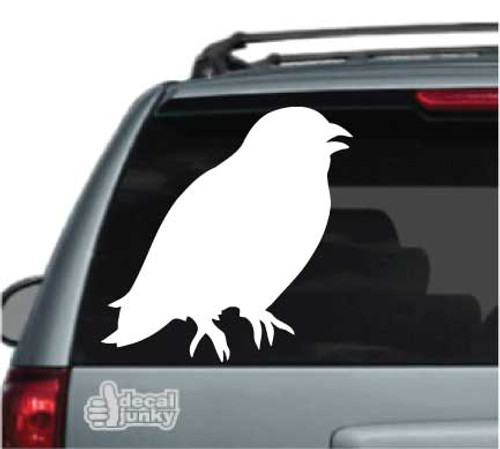 Crow Silhouette Car Decal