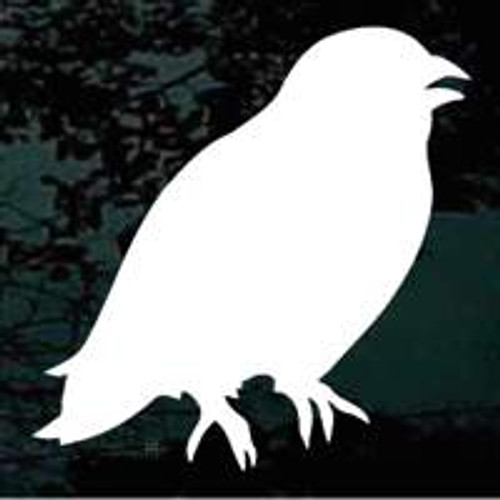 Crow Silhouette Window Decal