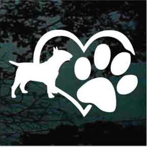 Bull Terrier Heart Paw