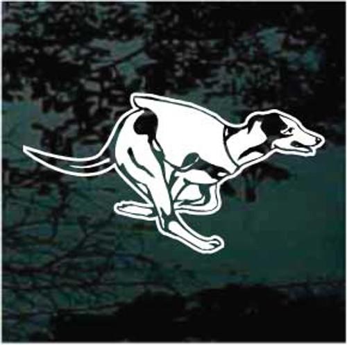 Greyhound Dog Racing 01 Window Decal