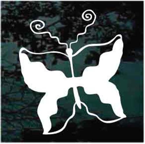 Petroglyph Butterfly Window Decal