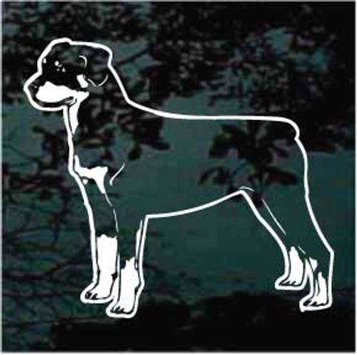 Rottweiler 01 Window Decal