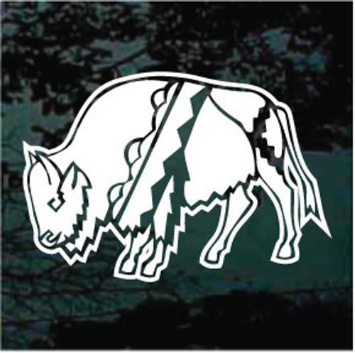 White Buffalo Window Decal