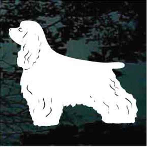 Cocker Spaniel Solid Standing Window Decal