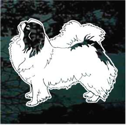 Japanese Chin 01 Window Decal