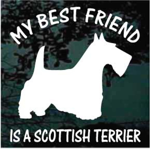 Scottish Terrier 01 Silhouette Best Friend Window Decal